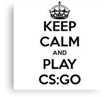 Keep calm and play CS:GO shirt Canvas Print