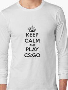 Keep calm and play CS:GO shirt Long Sleeve T-Shirt