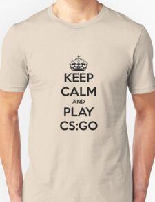 Keep calm and play CS:GO shirt Unisex T-Shirt