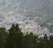 The town of Encamp, Andorra, by landscapebubble