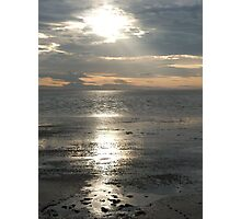 Sun Setting Over Spurn Point Photographic Print