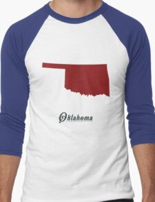 Oklahoma - States of the Union Men's Baseball ¾ T-Shirt