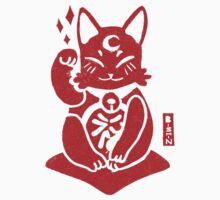 Lucky Cat lino Kids Tee