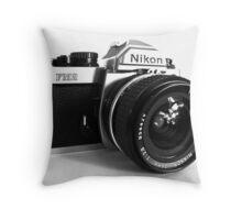 Nikon FM2 Nikkor 24mm f2.8 Throw Pillow