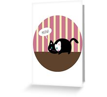 Lil' Cat meowing Greeting Card