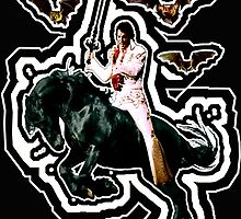 Heavy Metal Elvis Summons the Bats... now with Sonic Shockwave by zandozan