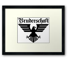 Brotherhood Eagle (Bruderschaft Bundesadler) - Black/Schwartz Framed Print
