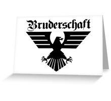 Brotherhood Eagle (Bruderschaft Bundesadler) - Black/Schwartz Greeting Card