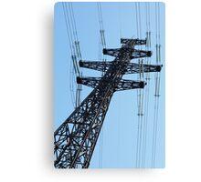 pylon power line Canvas Print