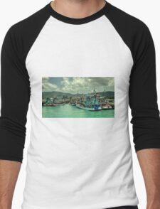 Thai Fishing  Men's Baseball ¾ T-Shirt