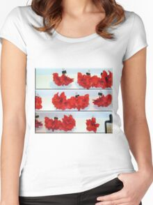 Drying Hibiscus and the Cheese Grater Women's Fitted Scoop T-Shirt