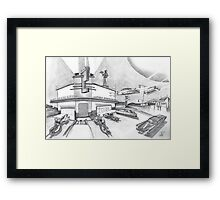 Speed Diner Framed Print