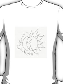 clouds // moon // earth // sun T-Shirt