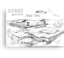 Dodge Hover Royal Custom Canvas Print