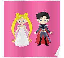 Princess Serenity and Prince Endymion Poster