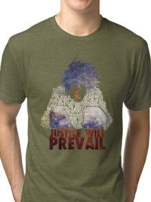 Death Note - L - Typography Tri-blend T-Shirt