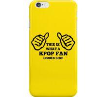 A KPOP FAN LOOKS LIKE - YELLOW iPhone Case/Skin
