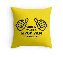 A KPOP FAN LOOKS LIKE - YELLOW Throw Pillow