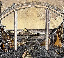 'View of Mt. Fuji' by Katsushika Hokusai (Reproduction) by Roz Abellera Art Gallery