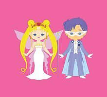 Neo Queen Serenity and King Endymion by gabdoesdesign