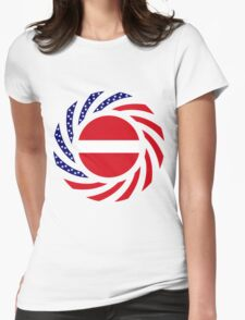 Latvian American Multinational Patriot Flag Series Womens Fitted T-Shirt