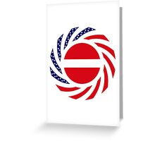 Latvian American Multinational Patriot Flag Series Greeting Card