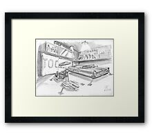 Lincoln et BMW HoverRacer Framed Print