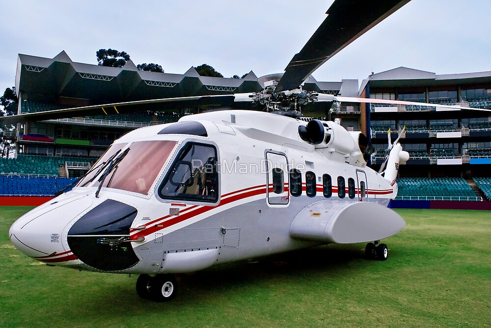 Sikorsky S-92 … Parked @ The Wanderers Cricket Stadium by RatManDude