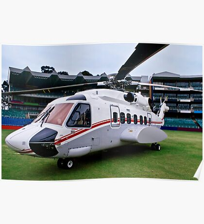 Sikorsky S-92 … Parked @ The Wanderers Cricket Stadium Poster