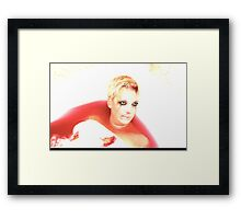 Dead in the bath blood loss... Framed Print