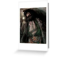 Hagrid in the Hut on the rock Greeting Card