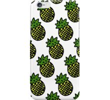 PINEAPPLES [WHITE] iPhone Case/Skin
