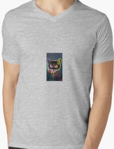 Spaced out kitty Mens V-Neck T-Shirt