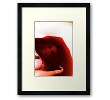 Dead in the bath drowning... Framed Print