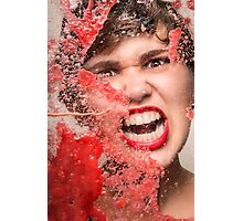 Red Rage Photographic Print