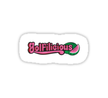Golfilicious Logo Sticker