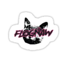 FLOGNAW cat logo Sticker