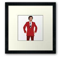 Anchorman - Ron Burgundy Framed Print