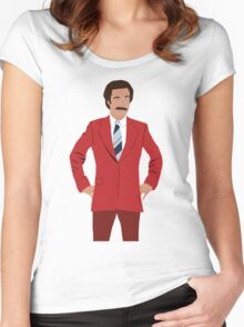Anchorman - Ron Burgundy Women's Fitted Scoop T-Shirt
