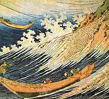 'Ocean Landscape 2' by Katsushika Hokusai (Reproduction) by Roz Abellera Art Gallery