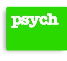 Psych Logo Canvas Print