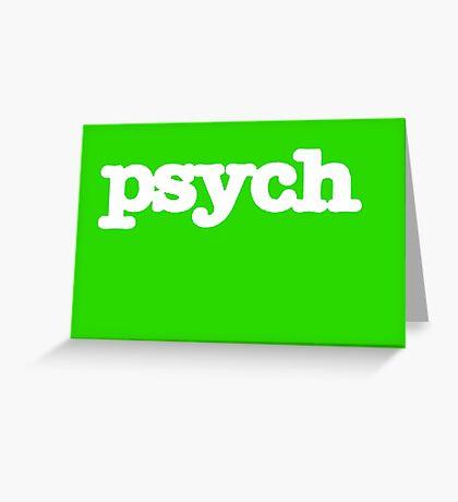 Psych Logo Greeting Card