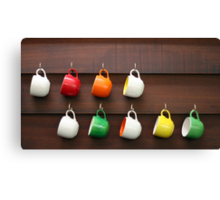 Colorful Cups Canvas Print