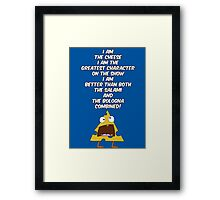 I am the cheese Framed Print