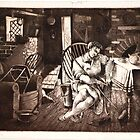 Doncaster College Art - Etching Circa 1950s by Doncaster College