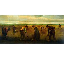 'Farmers' by Vincent Van Gogh (Reproduction) Photographic Print