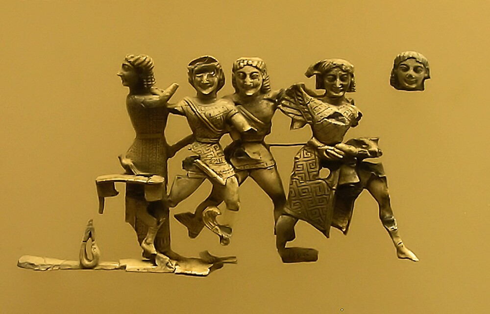 Ancient minature relief scene ~570 BC by Christopher Biggs