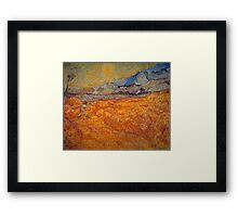 'Reaper' by Vincent Van Gogh (Reproduction) Framed Print