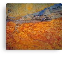 'Reaper' by Vincent Van Gogh (Reproduction) Canvas Print