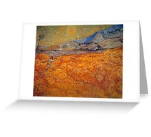 'Reaper' by Vincent Van Gogh (Reproduction) Greeting Card